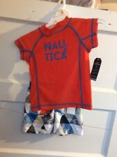 $48 Nautical boys swim trunks & shirt Upf 50 12 months Bx Kkk