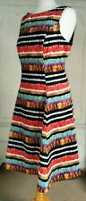 M&S Per Una Colourful Cotton  Dress Fully Lined Size 16