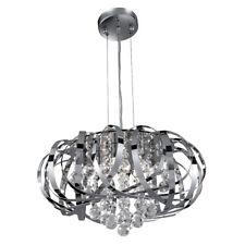 Searchlight 5 Lights Chrome Modern Glass Balls Ceiling Chandelier Pendant Light