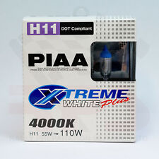 Piaa Xtreme Blanco Plus H11 4000K Halógeno Headlight Bulbs 12 V 55 W = 110 W Par