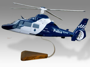 Aerospatiale AS365N3 Dauphin Victoria Police Air Wing 1 Wood Helicopter Model