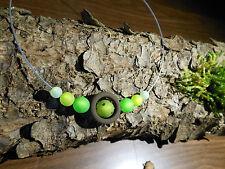 Neu unikat Polariskette gün braun Halskette Collier Polaris perlen kette Strass