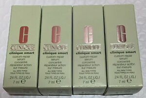 Lot 4 Clinique Clinique Smart Custom Repair Serum 0.24oz/7ml Each New In Box