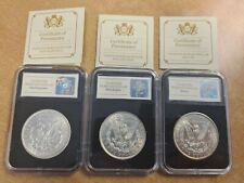 More details for 3 x morgan dollar silver coins usa 1921, 1921s and 1921d denver san francisco