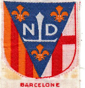 Boy Scout badge ++++Ext BARCELONE Scouts de France