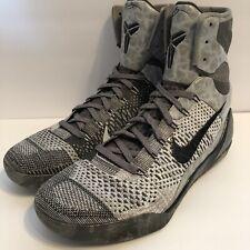 7c4010b97bf4 Nike Air Kobe 9 IX Elite Detail Grey Black Fog High 630847-003 Sz 12
