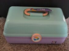 Caboodles On the Go Girl Plastic Makeup Case Light Green Purple New Cosmetics