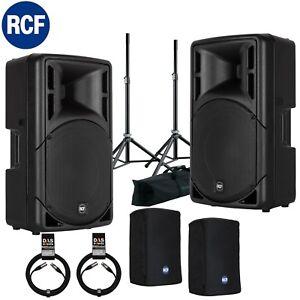 Bundle 2x RCF ART 312-A MK4 800 W inkl K&M Boxenstative Set + Kabel und Taschen