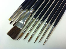 Model Painting Brushes - for Warhammer, Army Painter, Foundry, etc - (Sable Mix)