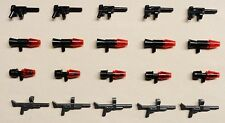 x20 NEW Lego ARMY GUNS HALO STAR WARS BATMAN Minifig Weapons 4 DIFFERENT KINDS