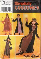 Halloween Costume Sorcerer Witch Devil Evil One Sewing PATTERN Children Sz 7-14