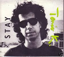 TONIO K Stay 1988 PROMO Radio DJ CD Single w/ KINKS TOUR STICKER 1988 USA Seller
