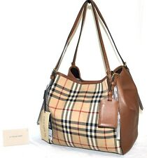 Burberry Small Canterbury in Horseferry Check and Leather, New W/Tags $995