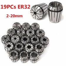19Pcs ER32 Collet Chuck Metric Precision 2-20mm For CNC Chuck Milling Engraving