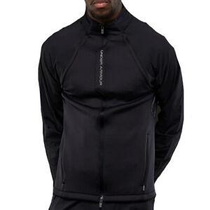 Under Armour UA Threadborne Mens Black Accelerate Fitted Sports Training Jacket