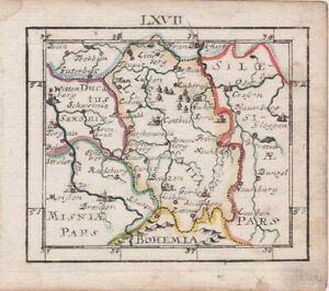 1692 Exquisite Muller Map of Lusatia N. Germany/Poland