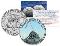 MARINE CORPS WAR MEMORIAL * Washington D.C. * JFK Half Dollar U.S. Coin Iwo Jima