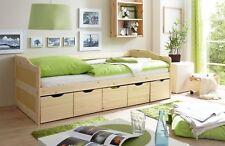 Sofabett 90x200 Kojenbett Gästebett Funktionsbett Bett 5 Schubladen massiv natur