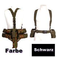 Schwarz Träger Paintball Pod Weste Camouflage Battlepack für 4 Pods + Flasche