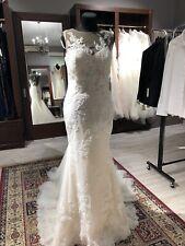 Pronovias Thea couture lace wedding dress gown US10 EU 38-40 Ret. NWT