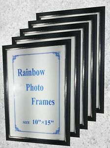"High quality Photo Frame 10 x 15""  Format  Wall Art Home Décor Black  Frames"
