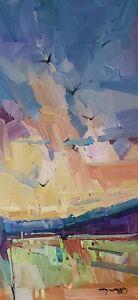 JOSE TRUJILLO Oil Painting IMPRESSIONISM CONTEMPORARY COLLECTIBLE LANDSCAPE ART