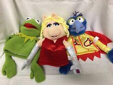 "Lot x3 Toys R Us Muppets 10"" Hand Puppets KERMIT Miss PIGGY Gonzo FAO 2014 Plush"