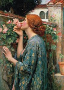 Waterhouse - My Sweet Rose - A4 size 21x29.7cm QUALITY Canvas Art Print Unframed