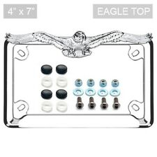 Chrome Eagle License Plate Frame Locking Screw & Cap Kit for Motorcycle