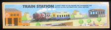 Schylling Train Station Classic Wind Up Clockwork Tin Engine Passenger Car NIB!