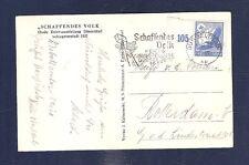 31 Germany 1937 Dusseldorf Scaffendes Volk air mail postcard to Holland