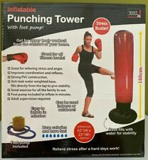 Inflatable Punch Punching Bag Tower Boxing Workout Training Gym Exercise + Pump