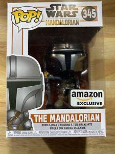 Funko Pop! Star Wars: The Mandalorian  (Chrome), Amazon Exclusive #345