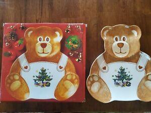 Nikko Christmastime Teddy Bear Plate / Tray