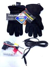 Gerbing's Nubuck Heated Gloves Black 12v DC Microwire Heat Waterproof Size Small