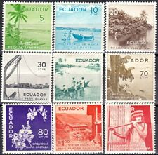 ECUADOR Sc 596 - 604 - COMPLETE MH SET - LOOK!