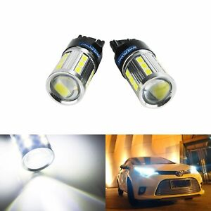 2x 580 T20 W21/5W LED Turn Signal Sidelight Stop Brake Reverse Light Bulbs DRL