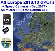 2018 Europe All Countries &Speed Cameras - City Maps nt for Garmin Gps Navigator