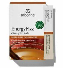 Arbonne Energy Fizz 30 Sticks Pack - Ginseng Fizz, Spiced Cider Punch, Exp 10/22