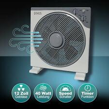 EAXUS® Boden-Tischventilator | Ø 30cm Raumlüfter 40W Oszillierend | Klima leise