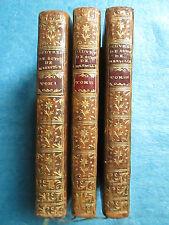 GUYOT DE MERVILLE : OEUVRE DE THEATRE, 1766. 3 volumes bien relié, musique notée