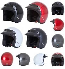 SPADA Motorcycle Helmet Open Face Plain White 279933 M