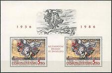 Cecoslovacchia 1986 SG #MS 2849 INT. ponti in Spagna MNH M / S #A 92807