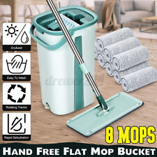 Home Flat Squeeze  And Bucket Set Self Cleaning Hand Free Wringing Fiber