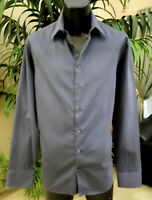 Giorgio Armani  Casual Shirt 17-36 LT Sharp Black Stripes
