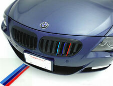 Sport Tri Color Strip Kidney Grille Grill Vinyl Sticker Decal For BMW M5 E46 Etc