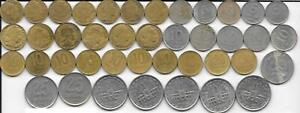 Flea Market Dealer Old Bulk Lot 40 Mixed Date and Type Argentina Coins 1943-1998