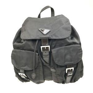 100% Authentic Prada Nylon Backpack Brown [USED] {08-0289}