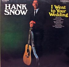 HANK SNOW I Went To Your Wedding LP
