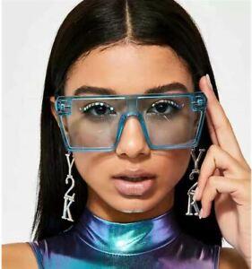 Sunglasses - Oversized Square Shaped Design - 4 Colour Choices - SG0032